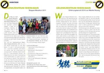 gelenKzentruM rhein-Main - Kompetenz im Sport