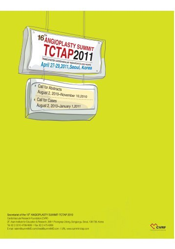 Please click here to view the Final Program!! - tctap