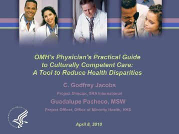 OMH's Physician's Practical Guide to Culturally Competent Care: A ...