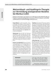 Metronidazol- und Azathioprin-Therapie zur Vermeidung ...