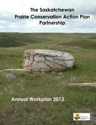 2013 SK PCAP Annual Workplan - Prairie Conservation Action Plan