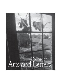 College of Arts and Letters - Registrar - University of Notre Dame
