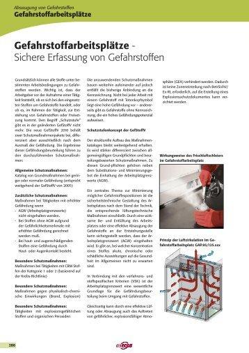 Gefahrstoffarbeitsplätze - - LAMBATEC GmbH