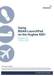 Using BGAN LaunchPad on the Hughes 9201 - inmarsat