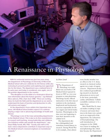 A Renaissance in Physiology - Madison Physiology