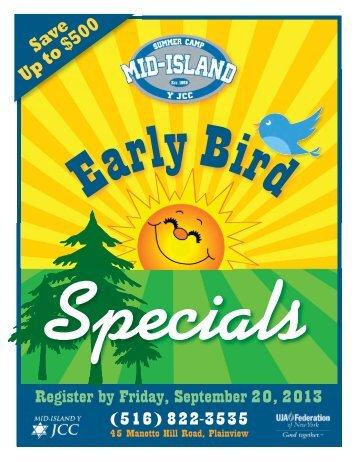 Specials - Mid Island Y JCC