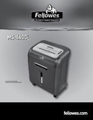 Manuel d'utilisation MS-460Ci - Fellowes