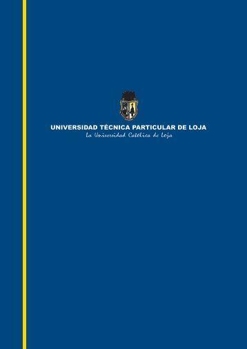 comunicado INGLÉS - Universidad Técnica Particular de Loja