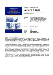 lettere a gino - Gionata Bernasconi - ANGSA Lombardia ONLUS