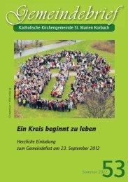 Gemeindebrief Sommer 2012 - der Kolpingsfamilie Korbach