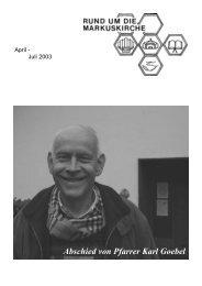 Abschied von Pfarrer Karl Goebel - Ev. Kirche in Porz