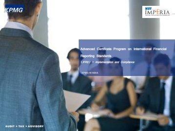 Advanced Certificate Program on International ... - NIITImperia.com