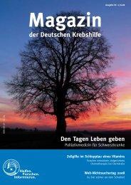 Ausgabe 2/2008 des - Deutsche Krebshilfe eV