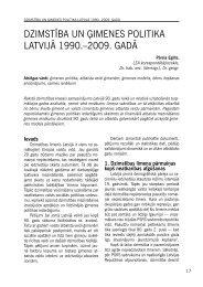 dzimstība un ģimenes politika latvijā 1990. - Latvijas Zinātņu ...