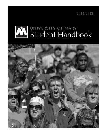 Student Handbook - University of Mary