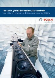 Boschin yleisäänentoistojärjestelmät Akustisten ominaisuuksien ...
