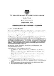 Communications & Fundraising Coordinator - UnitingWorld
