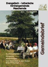 2009 Juni - August - Kirche Mascherode