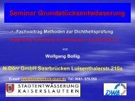 Seminar Grundstücksentwässerung
