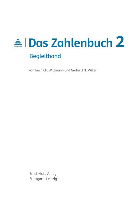 Das Zahlenbuch 2 Ernst Klett Verlag