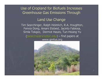Greenhouse Gas Emissions from Biofuels: How Land Use Change ...