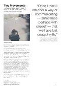 JOHANNA BILLING Tiny Movements - ACCA - Page 2