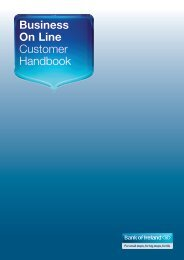Business On Line Customer Handbook - Business Banking - Bank of ...