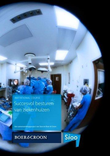 Succesvol besturen van ziekenhuizen - Sioo