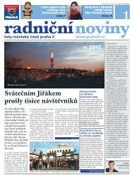 Radniční noviny - leden 2012 - Praha 3