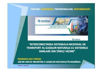 interconectarea sistemului naţional de ... - Petroleumclub.ro