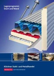 Lagerprogramm Dach und Wand - Klöckner Stahl
