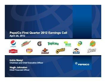 Conference Call Presentation - PepsiCo