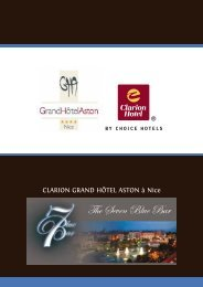 Dossier de presse Seven Blue Bar - grand hotel aston nice