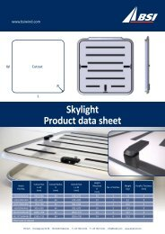 Skylight Product data sheet - BSI