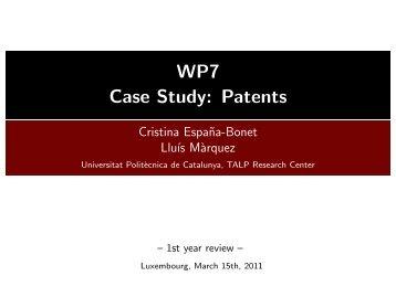 WP7 - Case Study: Patents - Molto