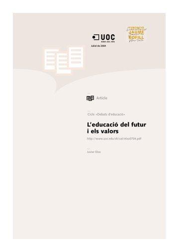 L'educació del futur i els valors - Universitat Oberta de Catalunya