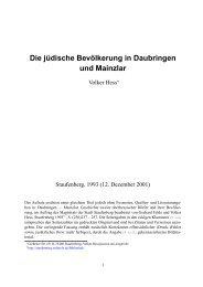 Die jüdische Bevölkerung in Daubringen und ... - tagebergen.de