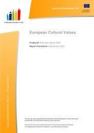 European Cultural Values 2007 - European Commission - Europa