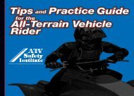 Tips and Practice Guide for the ATV Rider