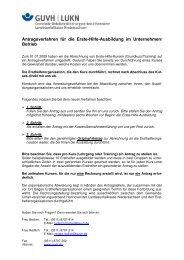 Antragsverfahren Für Die Erste-Hilfe-Ausbildung Im Unternehmen