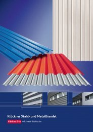 Aluminium-Trapezprofile Aluminium-Wellprofile - Klöckner Stahl