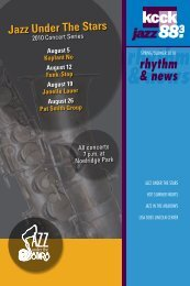 Read our Spring/Summer 2010 newsletter. - KCCK