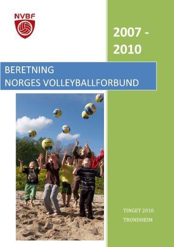 Beretning Norges Volleyballforbund 2007-2010