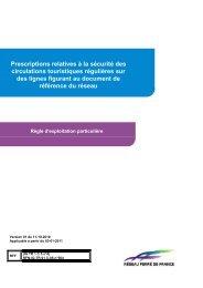 Prescriptions relatives à la sécurité des circulations ... - RFF