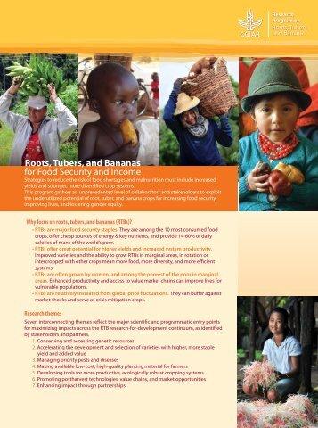 Roots, Tubers, and Bananas - cgiar