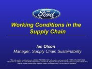 Working Conditions in the Supply Chain - NAEM