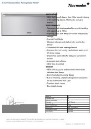INNOVATION NEW SoftClose® drawer door. Ultra ... - US Appliance