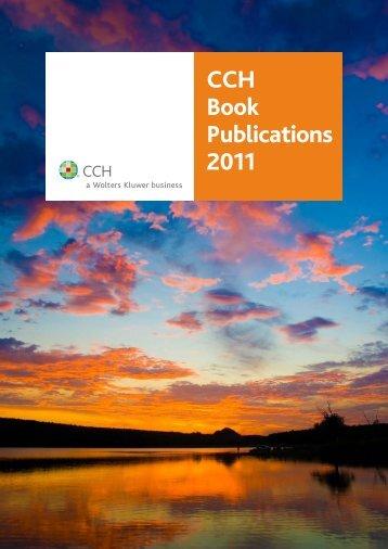 CCH Book Publications 2011 - CCH Australia
