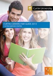 CURTIN CAREERS FAIR GUIDE 2013 - Unilife - Curtin University
