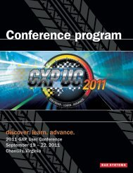 2011 Conference program - BAE Systems GXP Geospatial ...